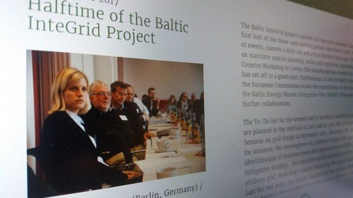 Baltic InteGrid zieht Halbzeitresümee